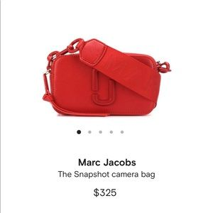 Marc Jacobs Red Snapshot Camera Bag